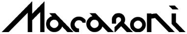 logo macaroni aachen schwarz